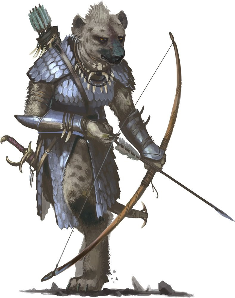 Gnoll Archer 1 Gnoll Player Race (Homebrew)
