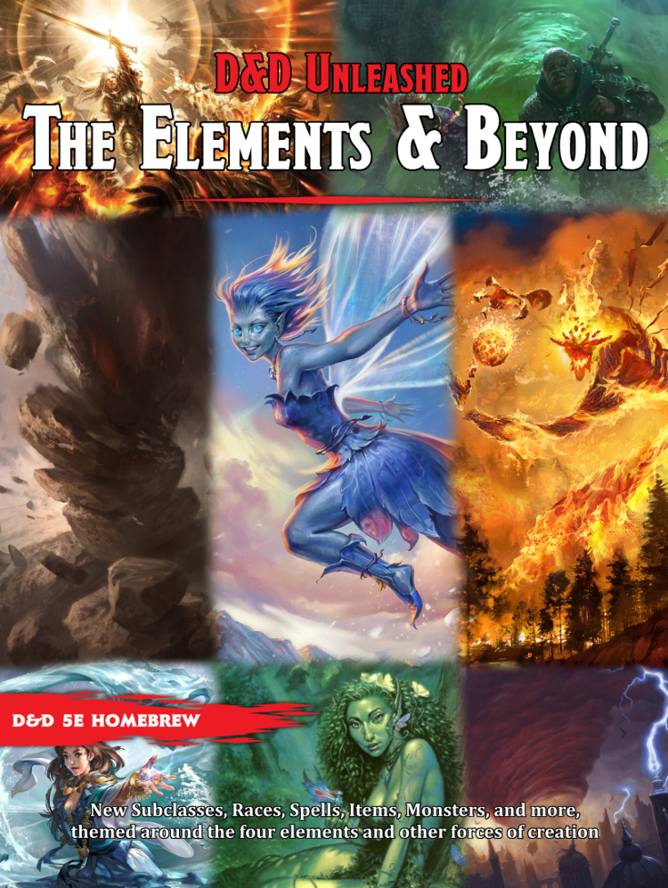 COVERPAGE ELEMENTS v1p0 pagesize Free Homebrew Compendium, Elements & Beyond