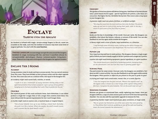 WO Enclave Ever want to be the monster and build out your dungeon? Now you can with Wicked Ones.